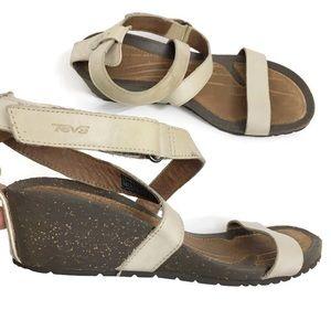 Teva Wedge Leather Sandals SZ1-462